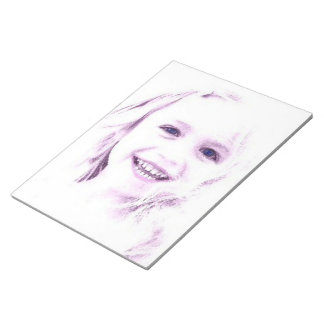 """Child face girl Notepad 11x8.5"""""""