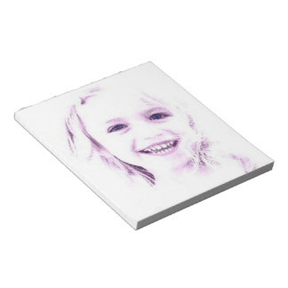 """Child face girl Notepad 5.5x6"""""""