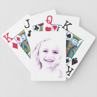Child face girl Playing Cards