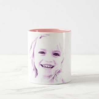 Child face girl Two-Tone coffee mug