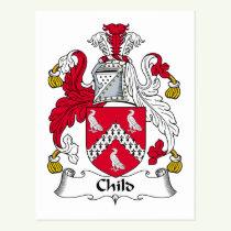 Child Family Crest Postcard
