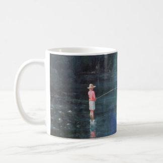 Child Fishing 1989 Coffee Mug