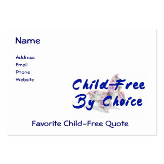 Child-Free Butterfly Large Business Card