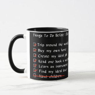Child-Free Checklist Mug
