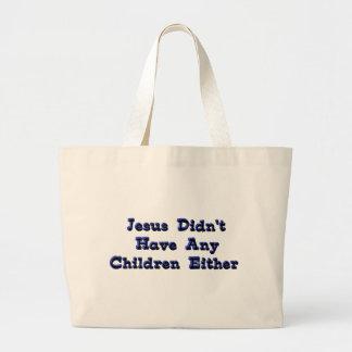 Child-Free Jesus Large Tote Bag