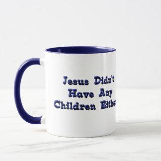 Child-Free Jesus Mug