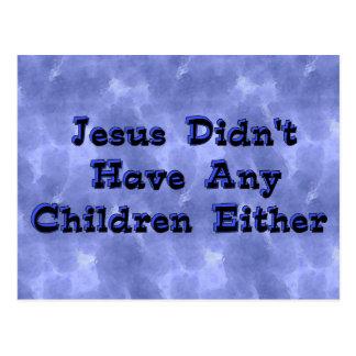 Child-Free Jesus Postcard