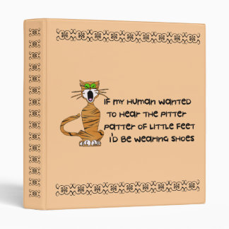 Child-Free Kitty Cat Binder