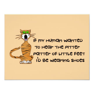 Child-Free Kitty Cat Personalized Announcements