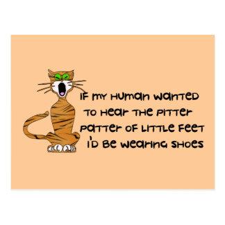 Child-Free Kitty Cat Postcard