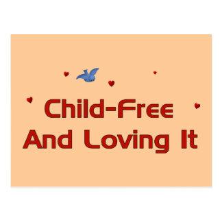 Child-Free Loving It Postcard