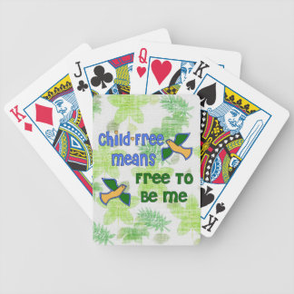 Child-Free Me Bicycle Playing Cards