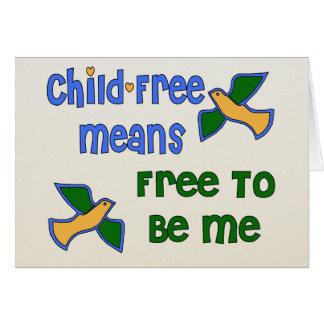 Child-Free Me Card