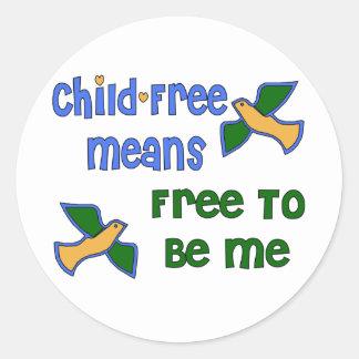 Child-Free Me Classic Round Sticker