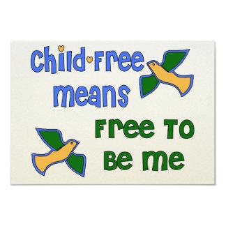 Child-Free Me Invitations