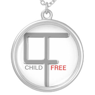 Child-Free No Question Silver Plated Necklace