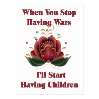 Child-Free Pacifist Postcard