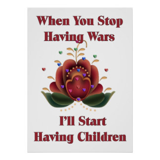 Child-Free Pacifist Poster