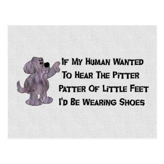Child-Free Puppy Dog Postcard
