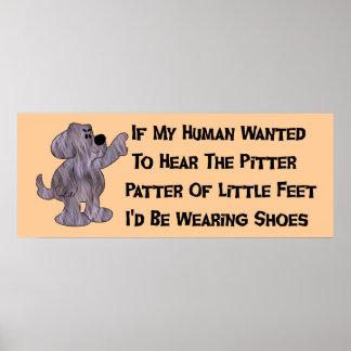 Child-Free Puppy Dog Poster