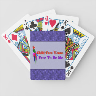 Child-Free To Be Me Bicycle Playing Cards