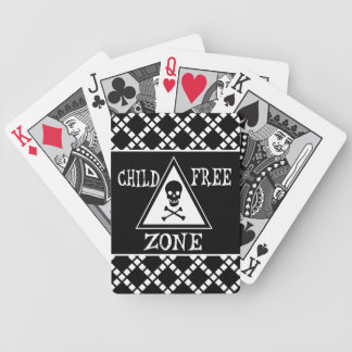 Child-Free Zone Bicycle Playing Cards