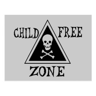 Child-Free Zone Postcard
