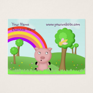 Child Friendly Pink Pig Business Card