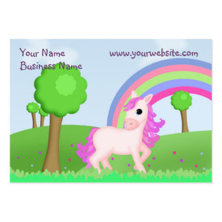 Child Friendly Pink Pony Business Card