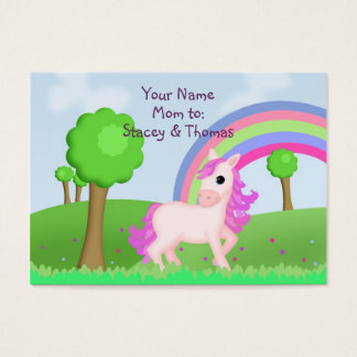 Child Friendly Pink Pony Mommy Calling Business Card