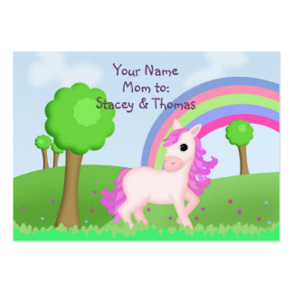 Child Friendly Pink Pony Mommy Calling Large Business Cards (Pack Of 100)