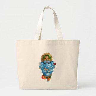 Child Ganesha in a Yoga Pose Jumbo Tote Bag