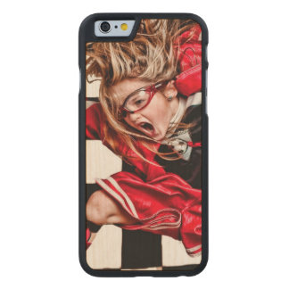 Child Girl Athlete Red Uniform kids soccer Carved® Maple iPhone 6 Case
