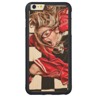 Child Girl Athlete Red Uniform kids soccer Carved® Maple iPhone 6 Plus Bumper