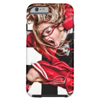 Child Girl Athlete Red Uniform kids soccer Tough iPhone 6 Case