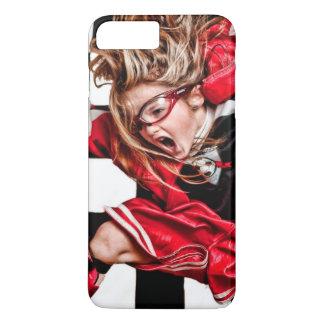 Child Girl Athlete Red Uniform kids soccer iPhone 8 Plus/7 Plus Case