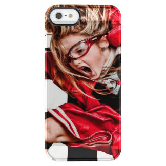 Child Girl Athlete Red Uniform kids soccer Uncommon Clearly™ Deflector iPhone 5 Case