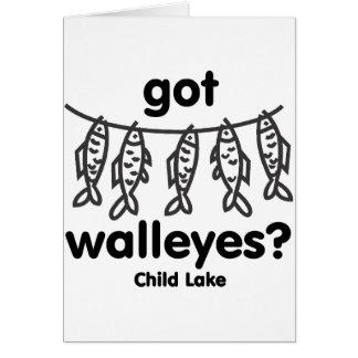 child got walleye greeting card