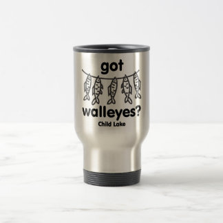 child got walleye travel mug