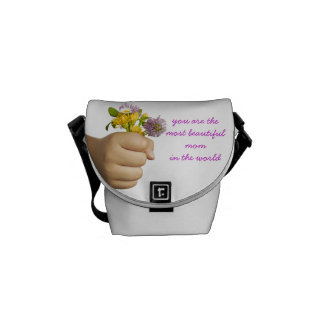 Child Hand Holding Flowers Courier Bag