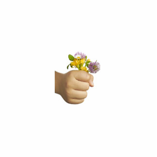 Child Hand Holding Flowers Cutout