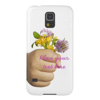 Child Hand Holding Flowers Galaxy S5 Cover