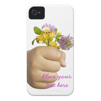 Child Hand Holding Flowers iPhone 4 Case