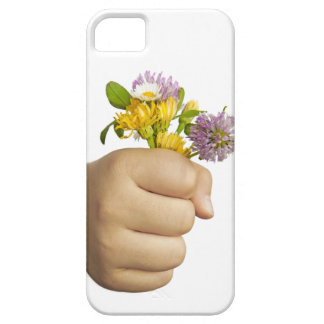 Child Hand Holding Flowers iPhone SE/5/5s Case