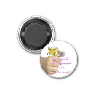 Child Hand Holding Flowers Magnet