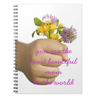 Child Hand Holding Flowers Notebook