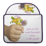 Child Hand Holding Flowers Sleeve For MacBook Pro