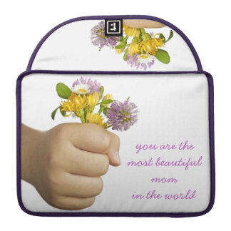 Child Hand Holding Flowers Sleeve For MacBooks