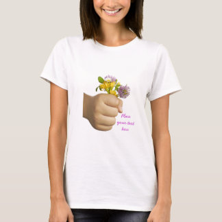 Child Hand Holding Flowers T-Shirt