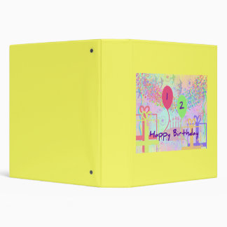 Child Happy Birthday Two Years Old Binder